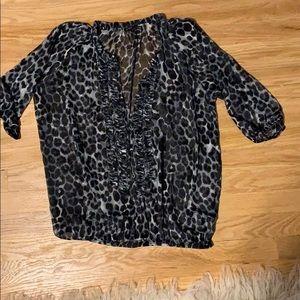 Express leopard top